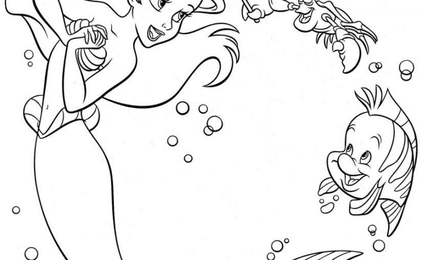 ariel mermaid coloring pages 4