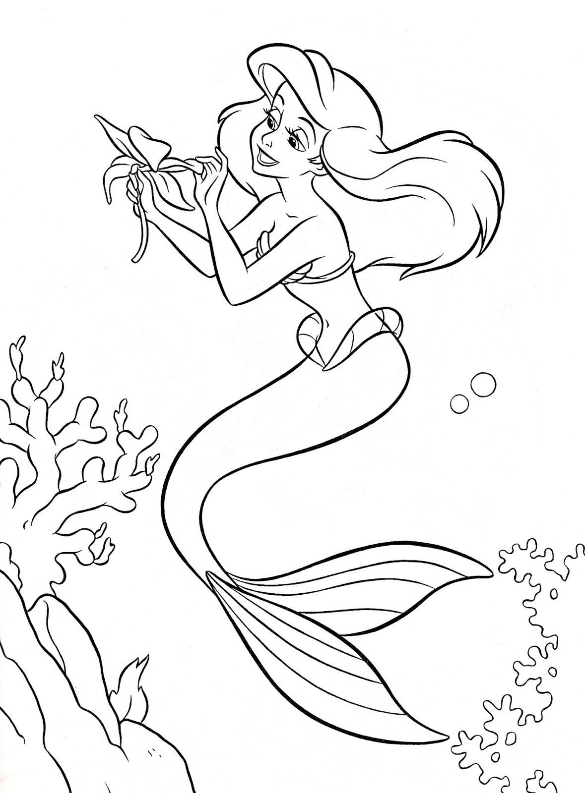 ariel mermaid coloring pages 5
