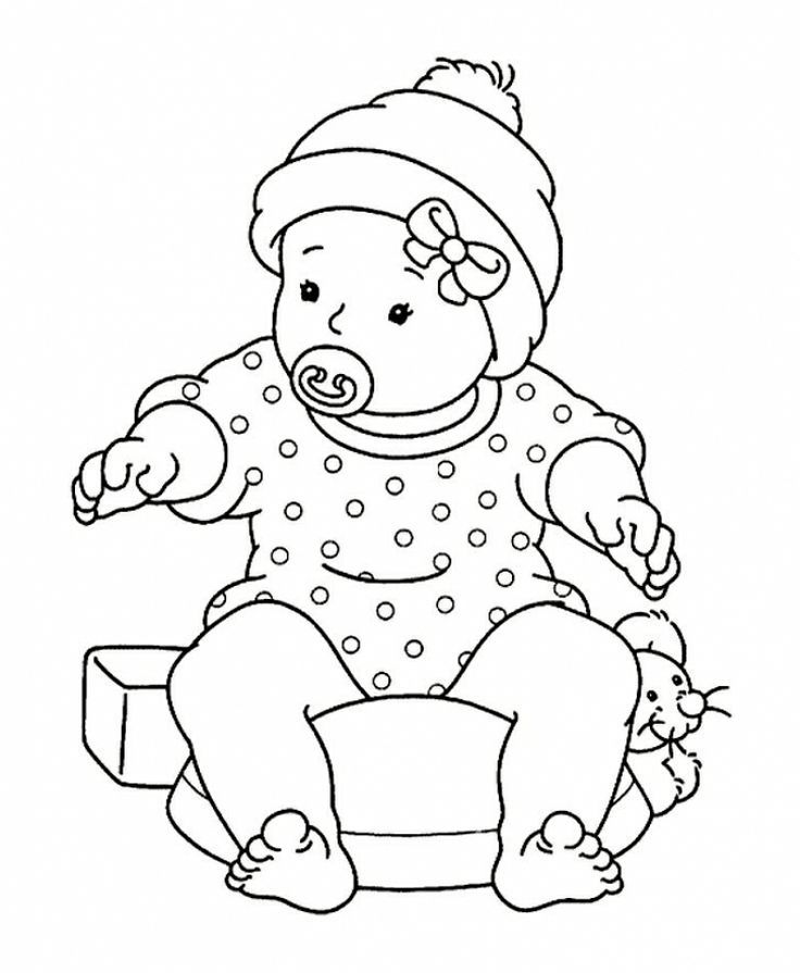 baby doll coloring page 5
