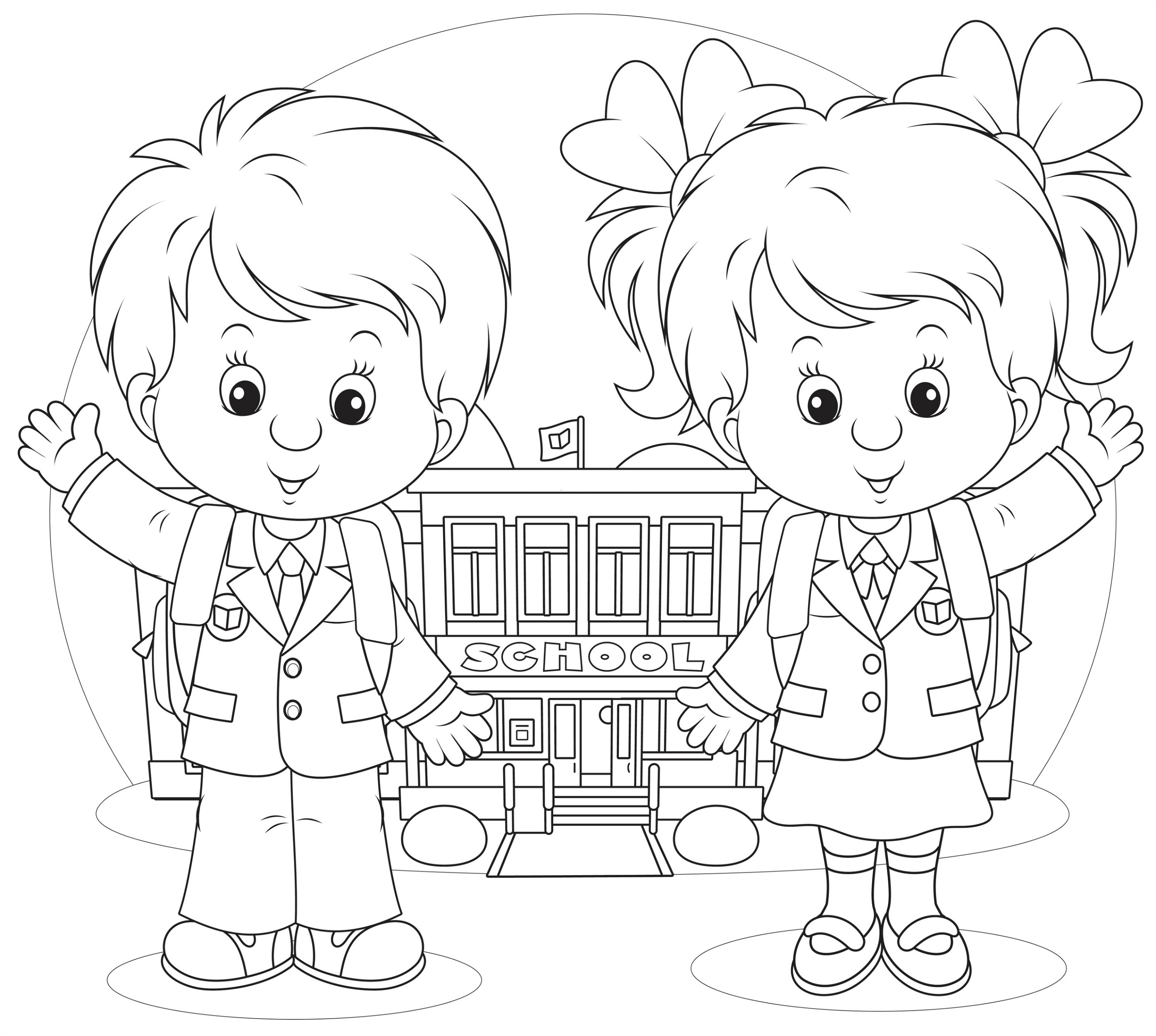 back to school coloring pages 4