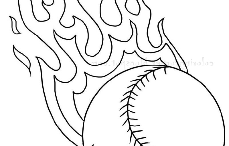 baseball coloring pages 1