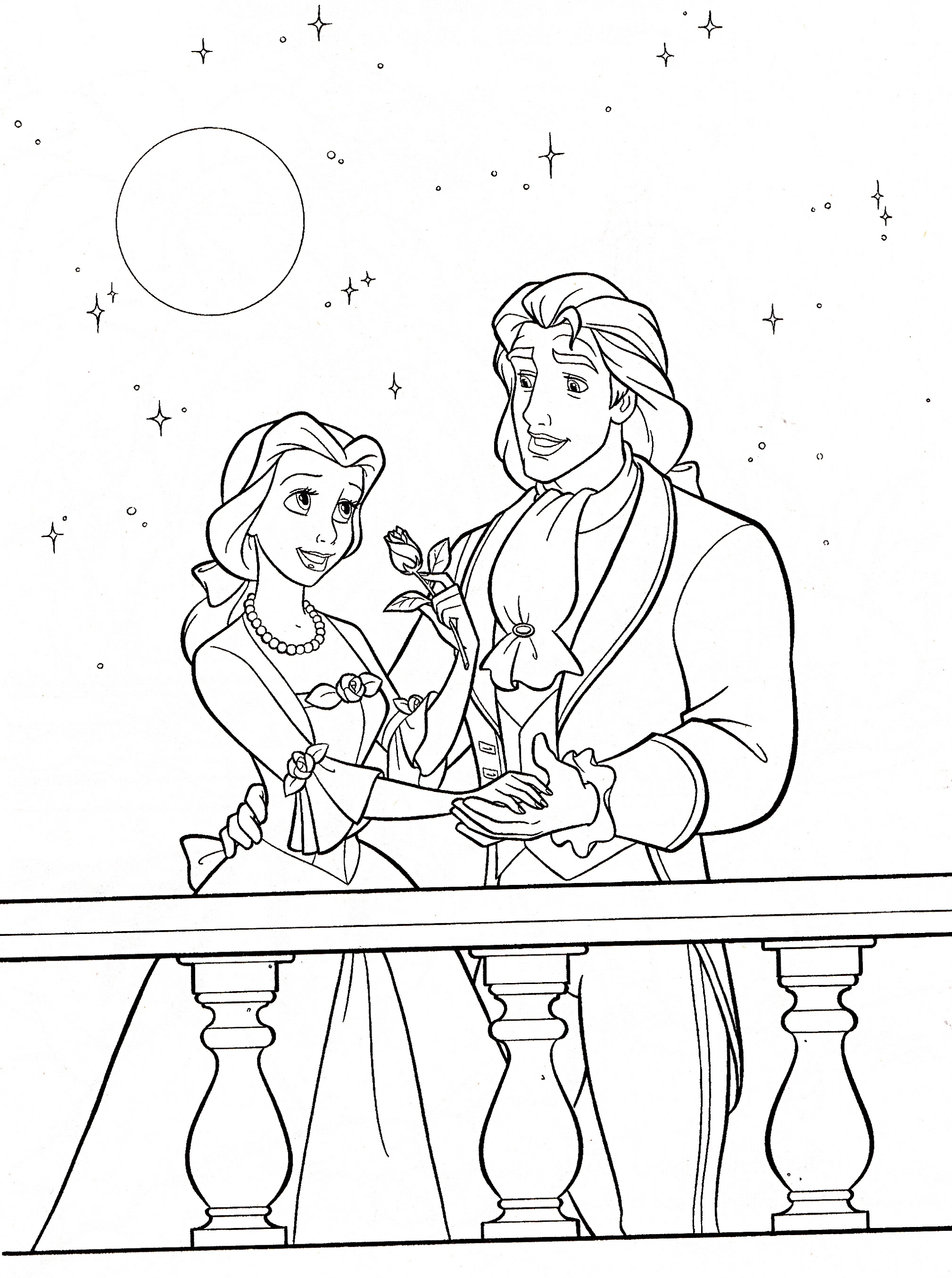 beauty and the beast coloring pages 3