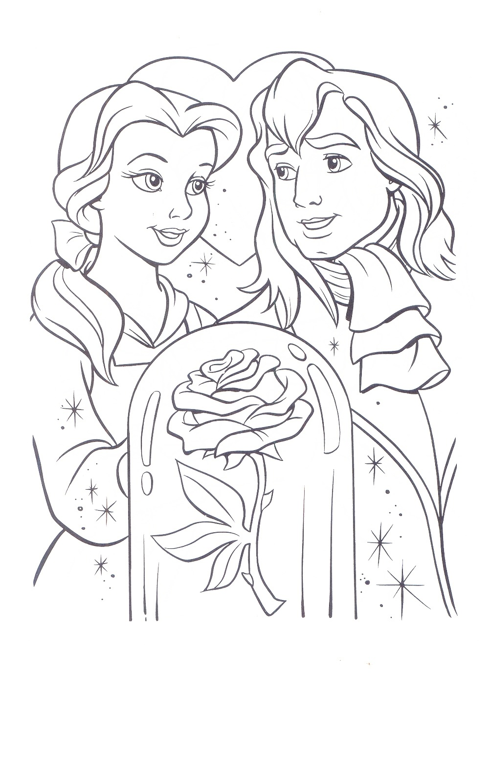 beauty and the beast coloring pages 4