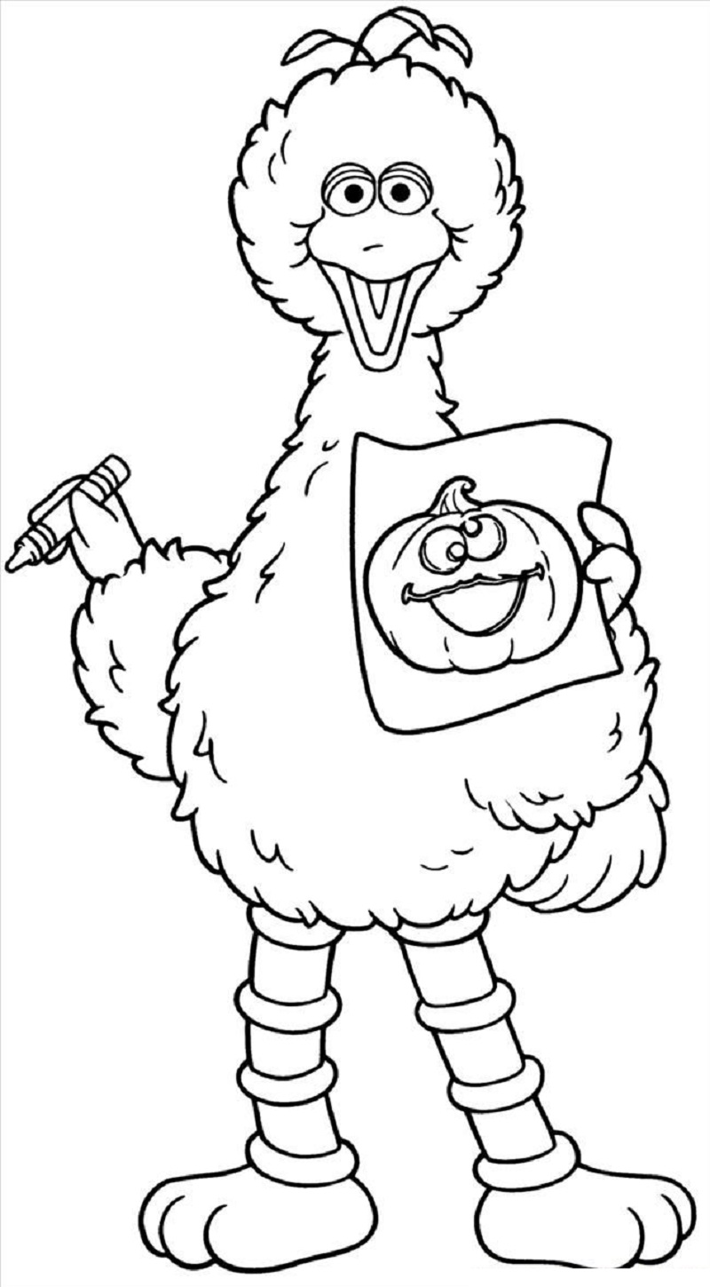 Big Bird Coloring Pages | Educative Printable