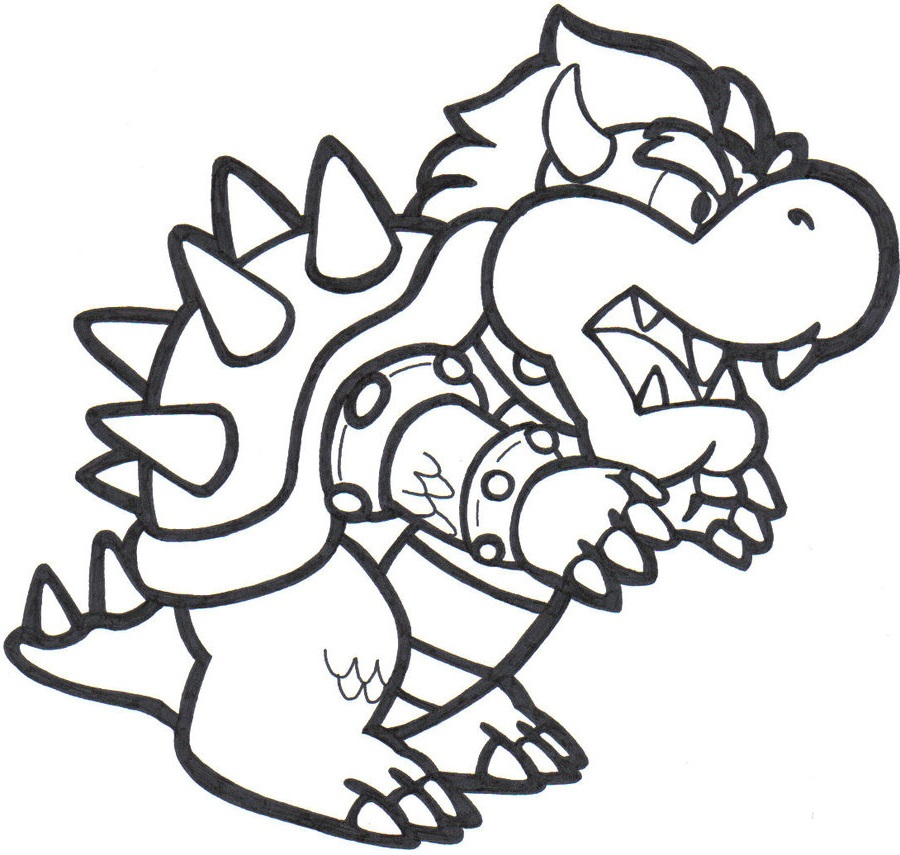 bowser coloring page five