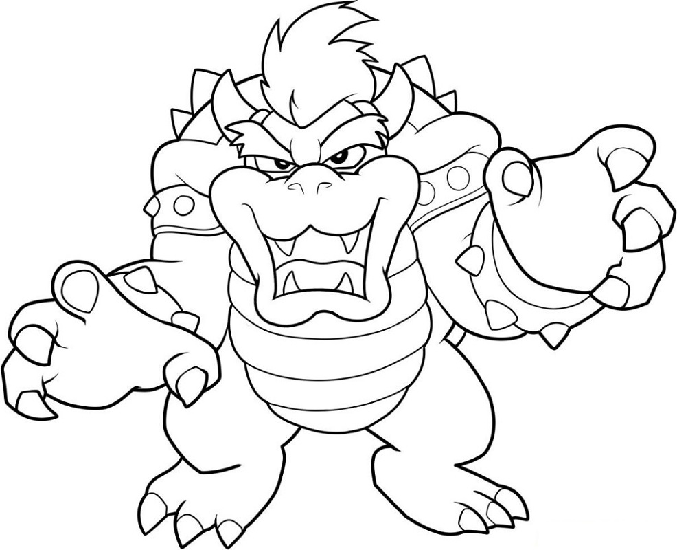 bowser coloring page four