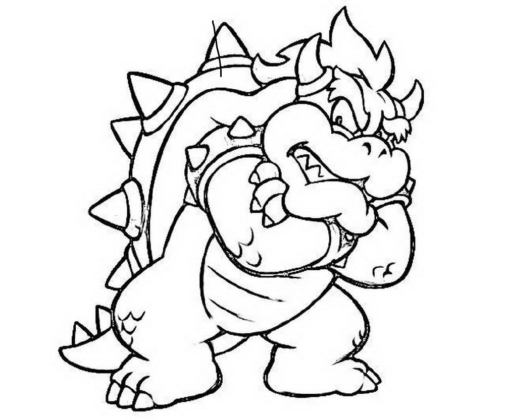 bowser coloring page one