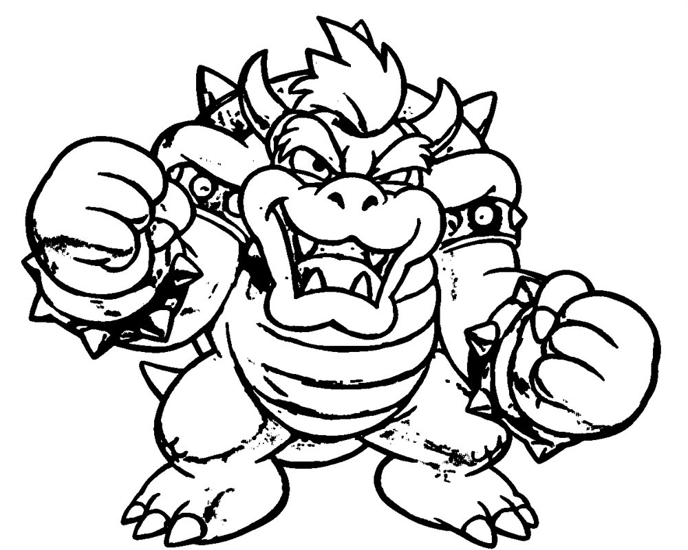 bowser coloring page two