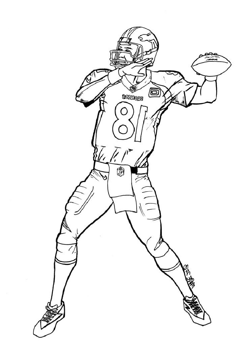 broncos coloring pages 2