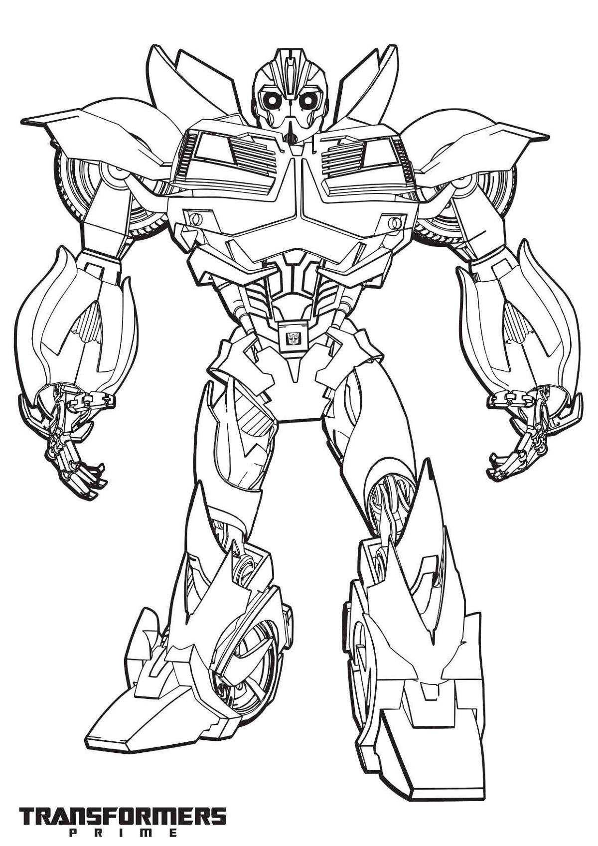 bumblebee transformer coloring page 1