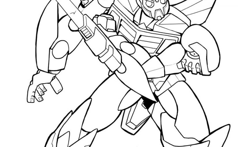 bumblebee transformer coloring page 3