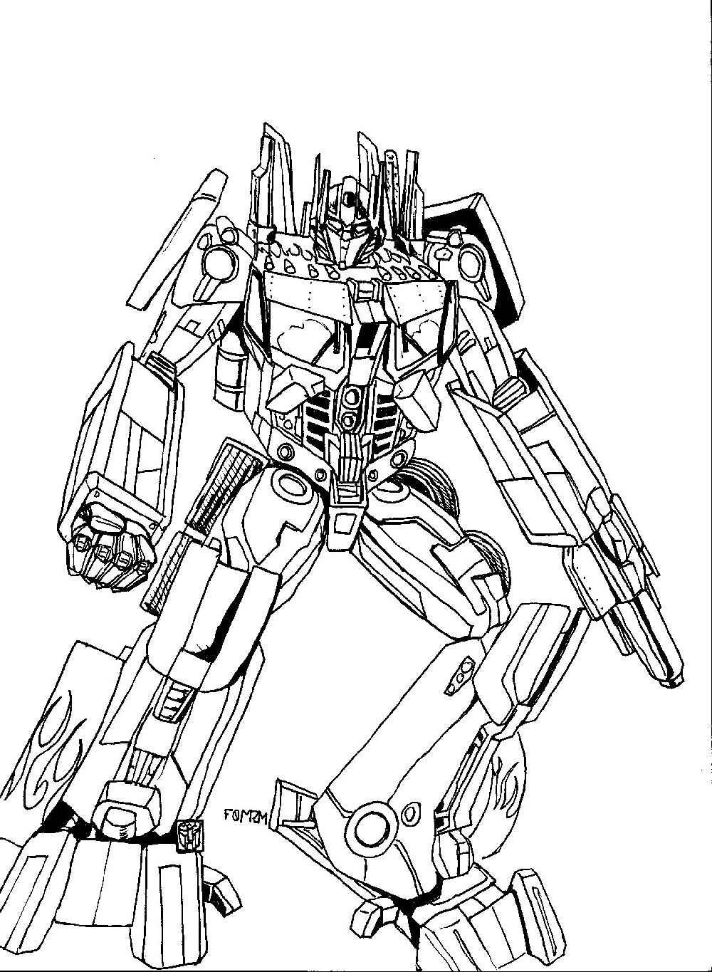 bumblebee transformer coloring page 5