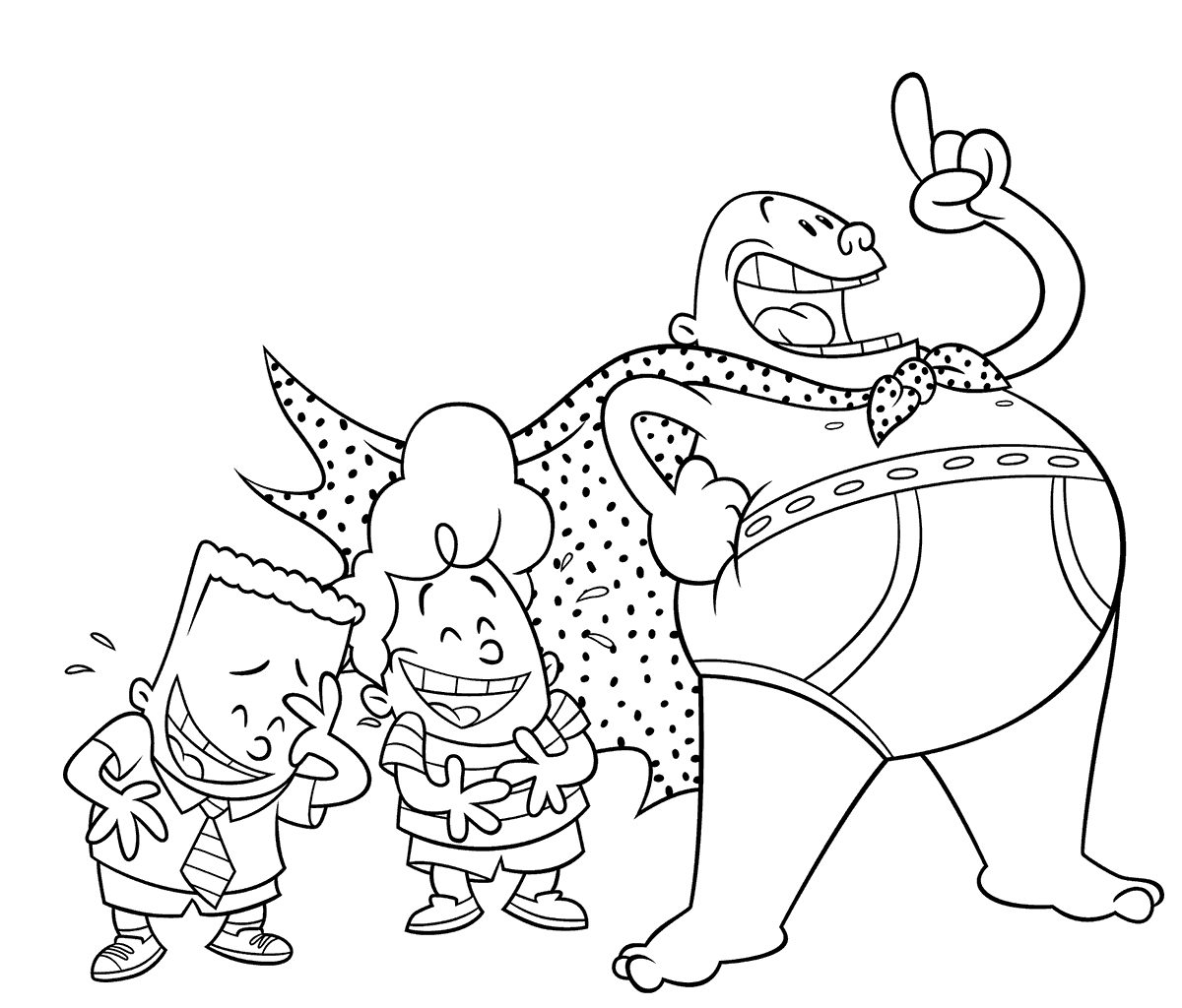 captain underpants coloring pages 1