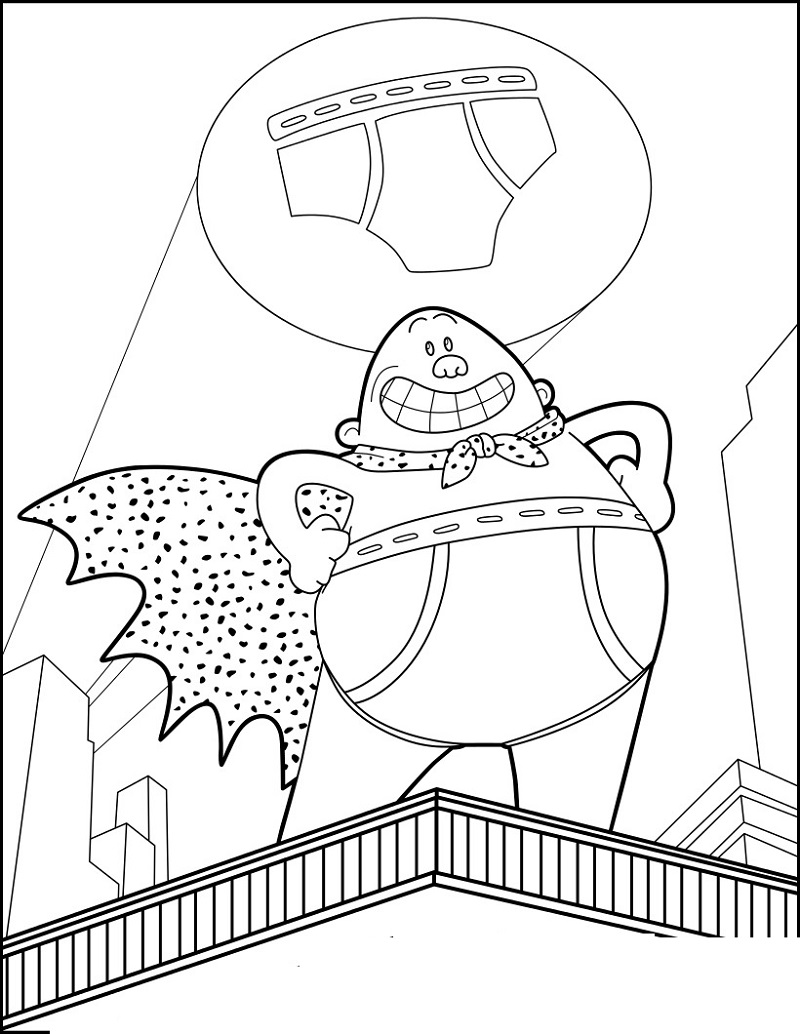 captain underpants coloring pages 2