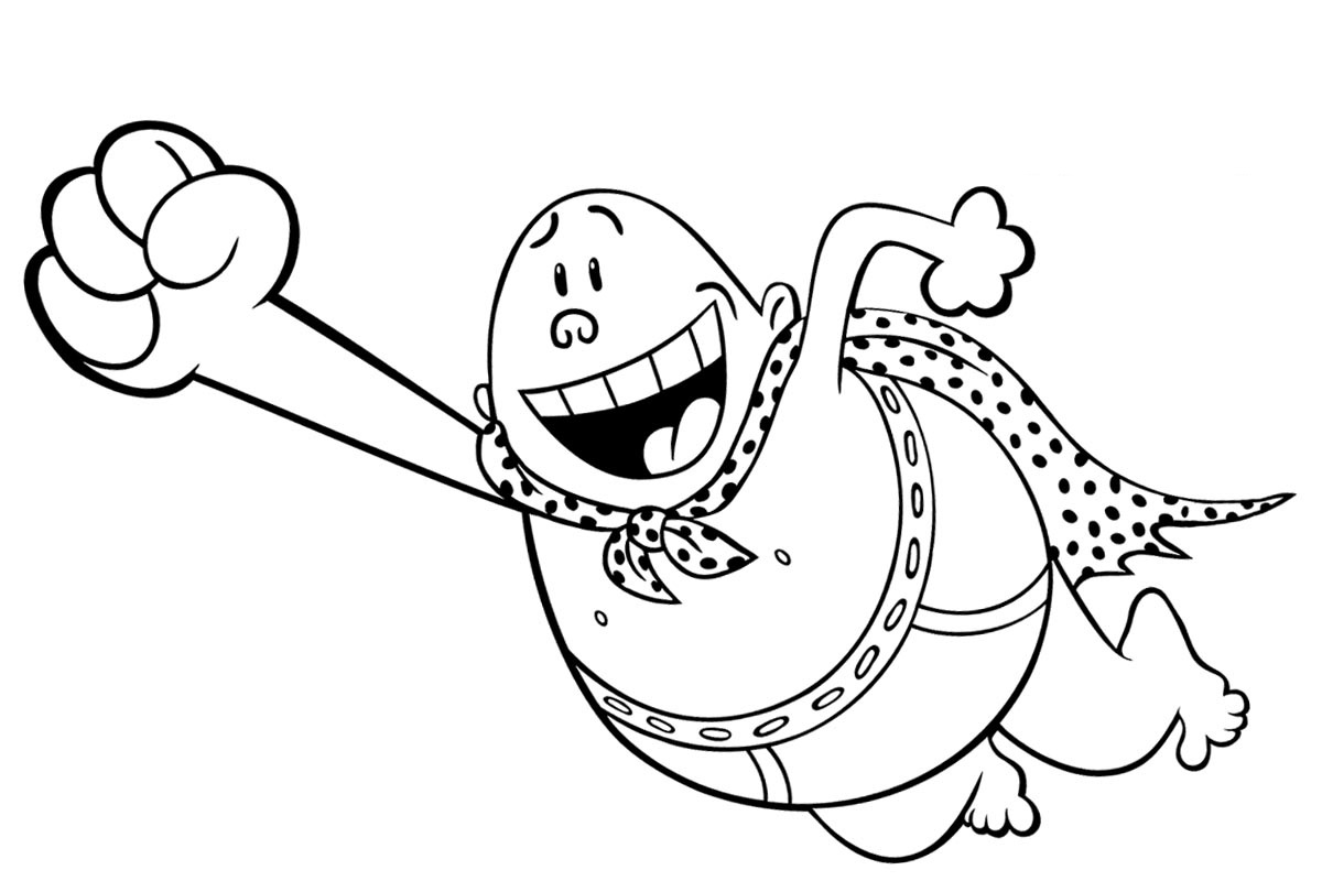 captain underpants coloring pages 3