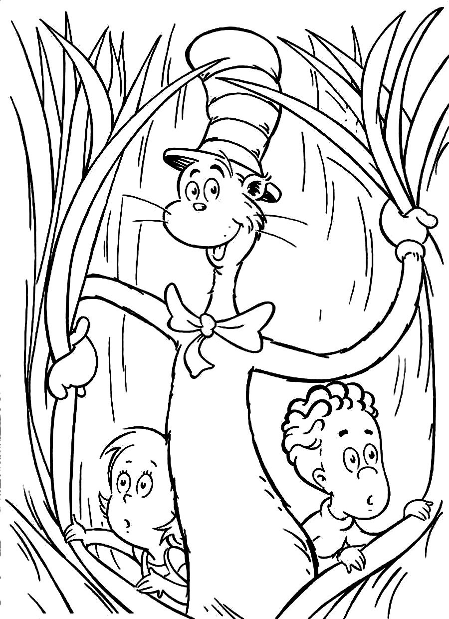 cat in the hat coloring sheet 3