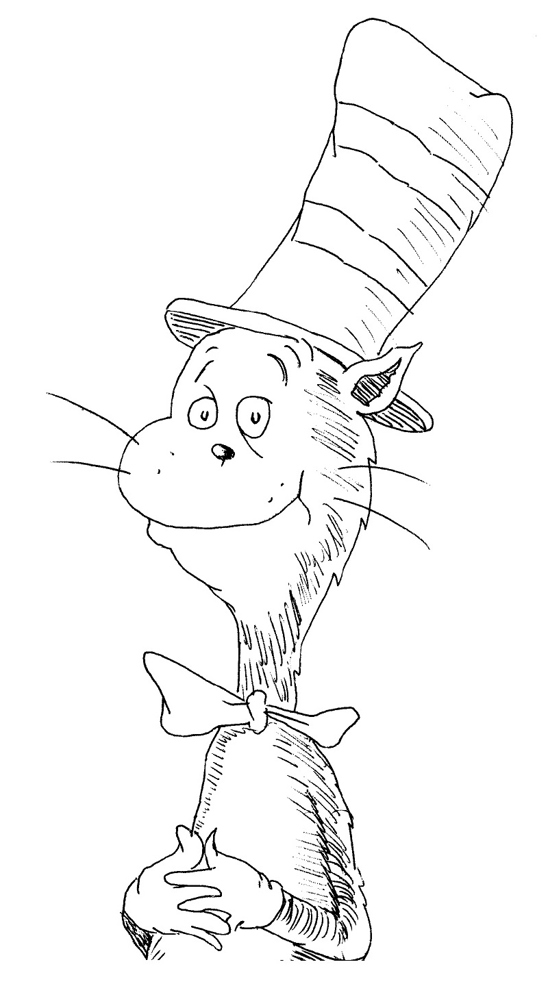 cat in the hat coloring sheet 4