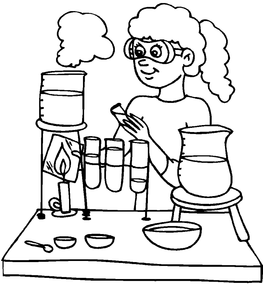 chemistry coloring pages 3