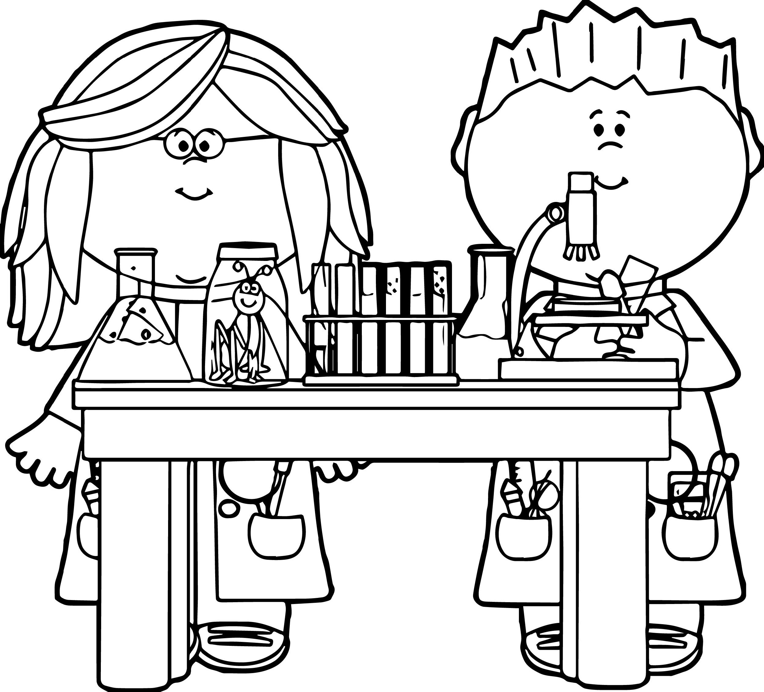 chemistry coloring pages 4