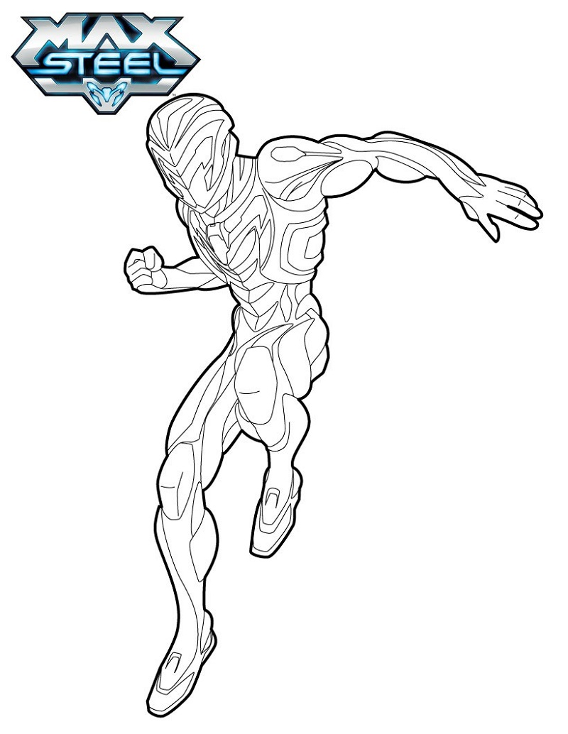 max steel coloring pages five