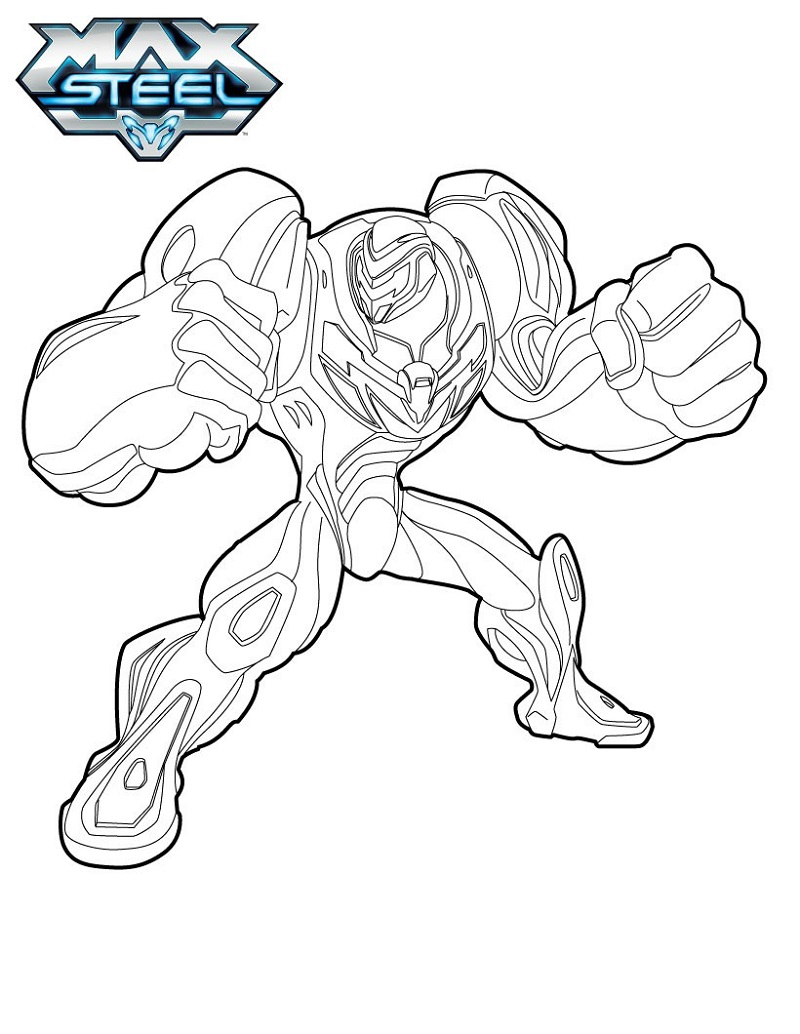 max steel coloring pages one