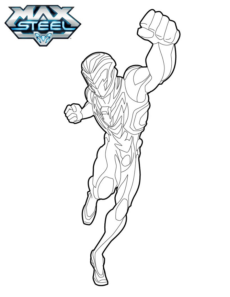 max steel coloring pages three
