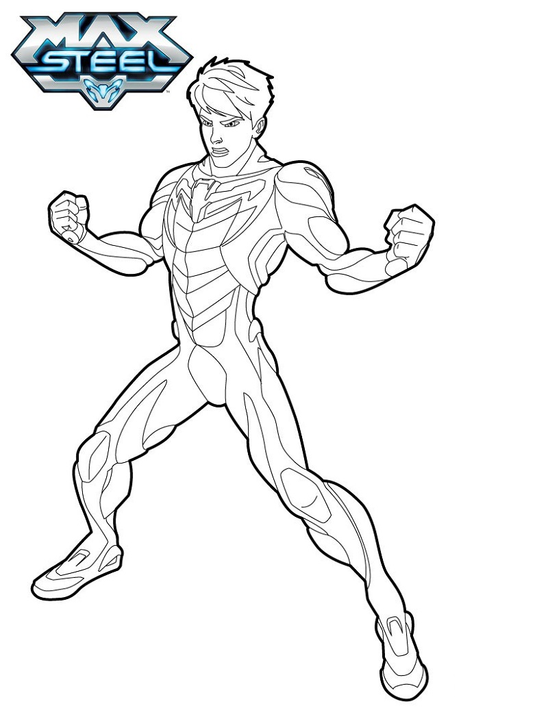 max steel coloring pages two