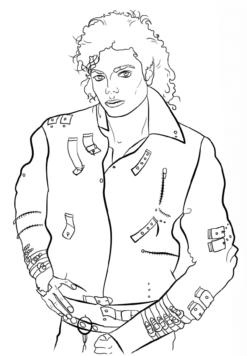 michael jackson coloring pages 2