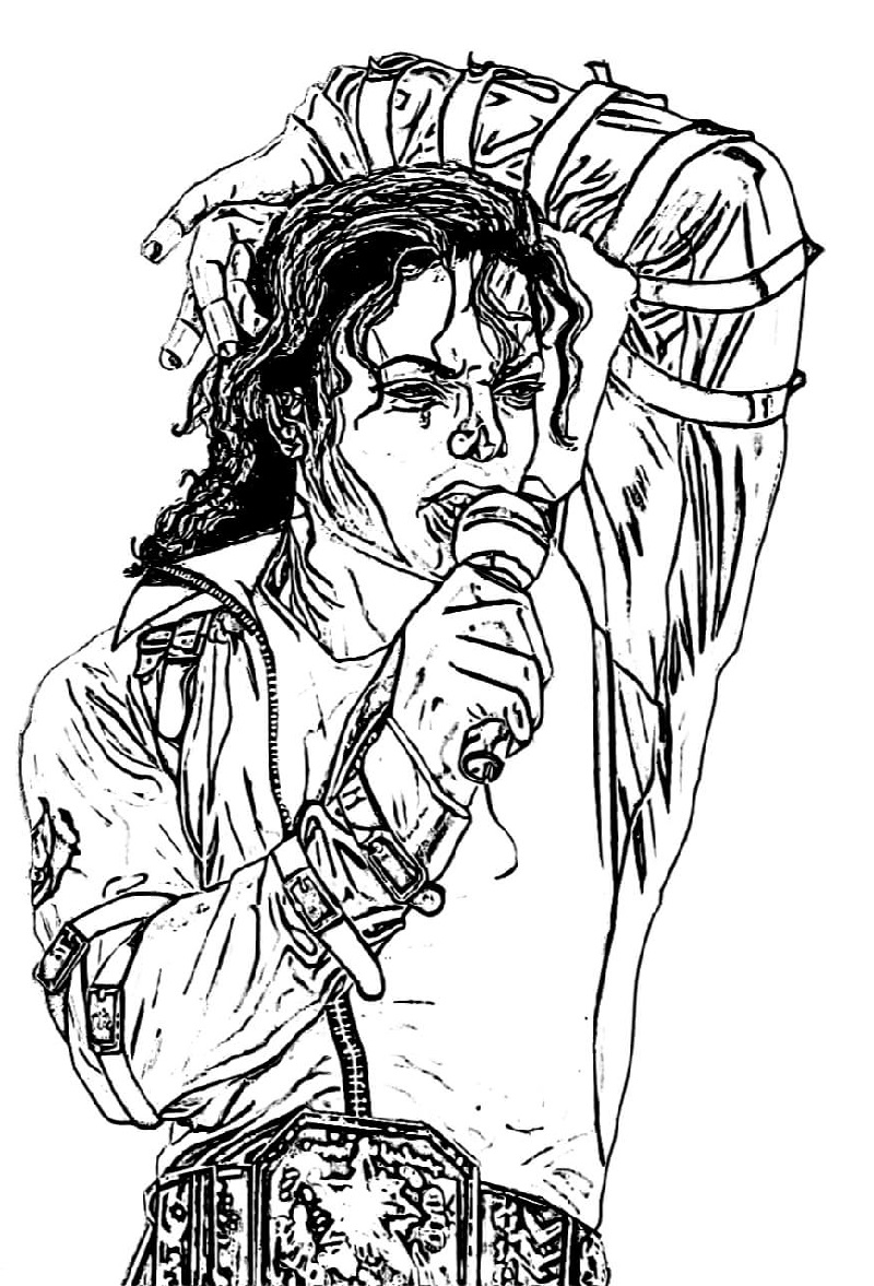 michael jackson coloring pages 4