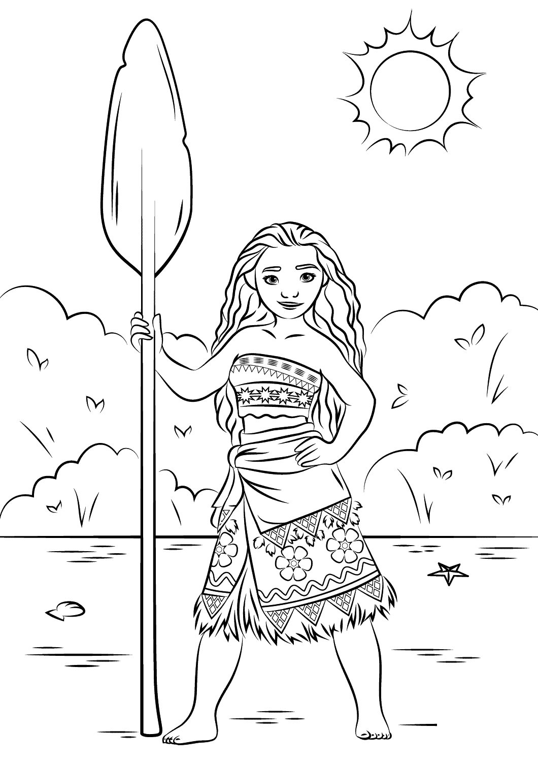 moana coloring book 4