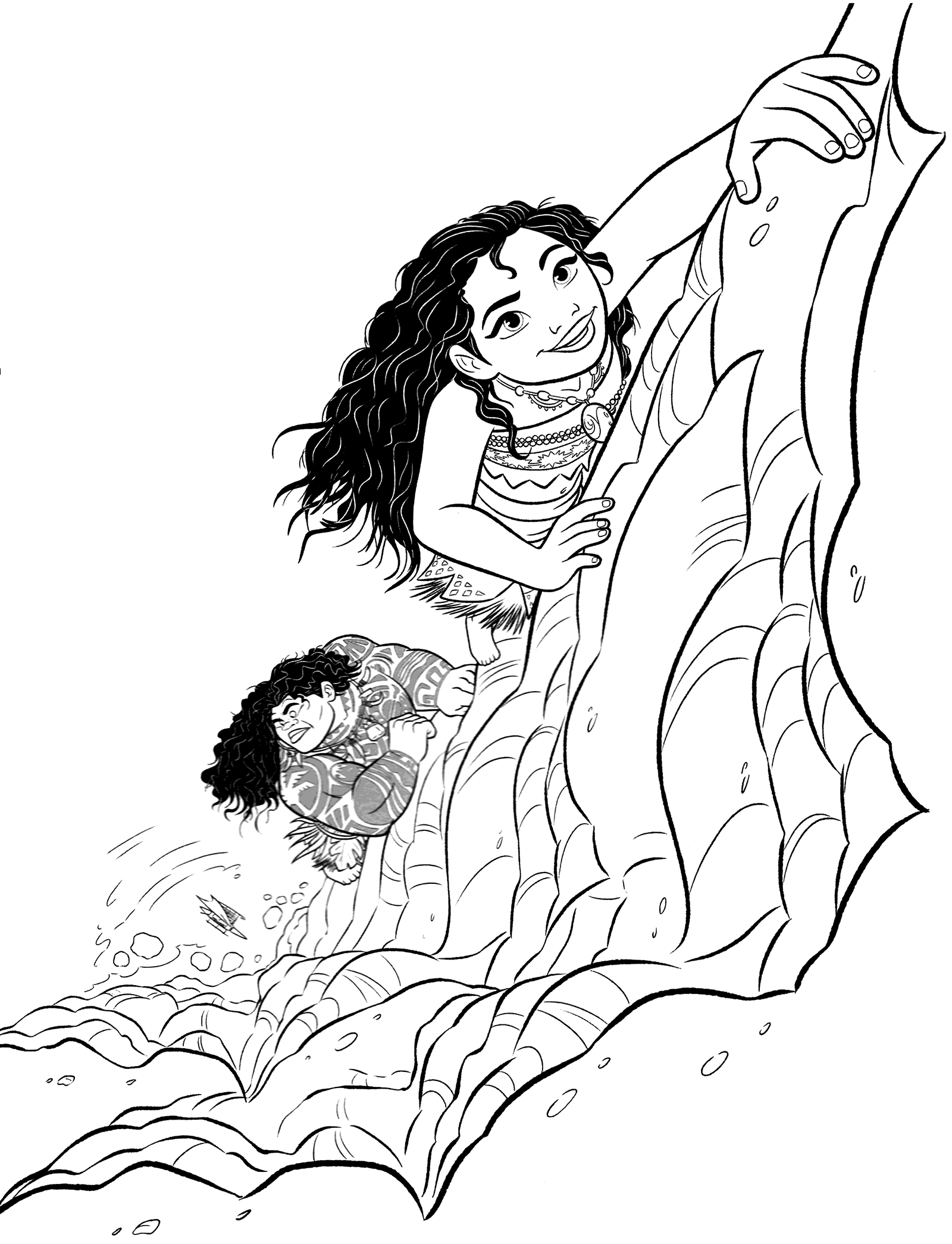 moana coloring book 5