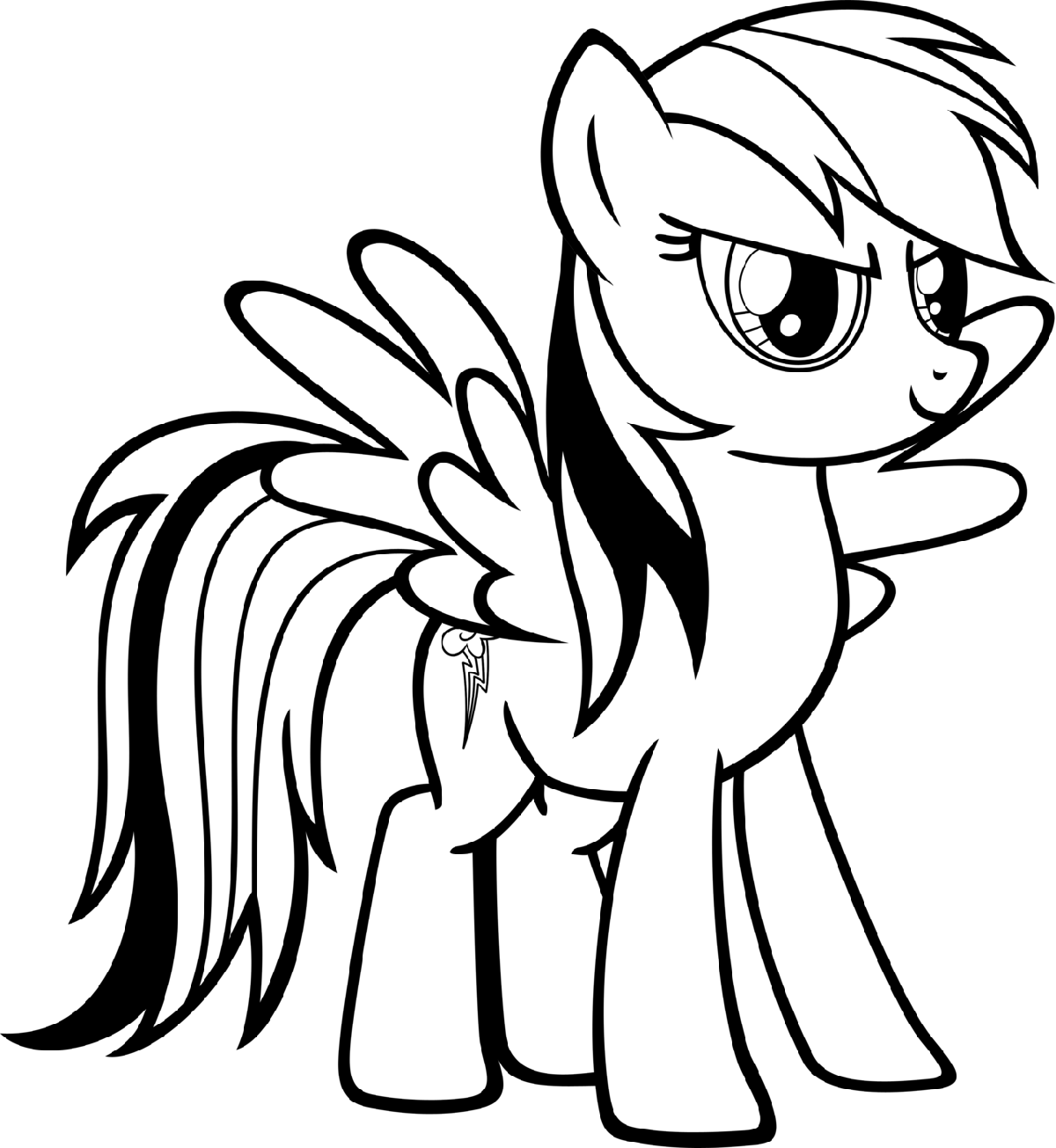 my little pony coloring pages rainbow dash 1