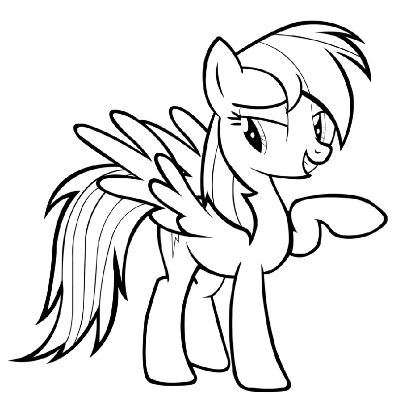 my little pony coloring pages rainbow dash 2