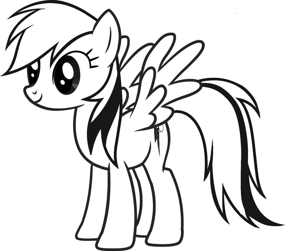 my little pony coloring pages rainbow dash 3