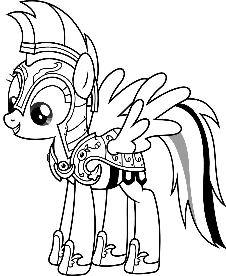 my little pony coloring pages rainbow dash 5