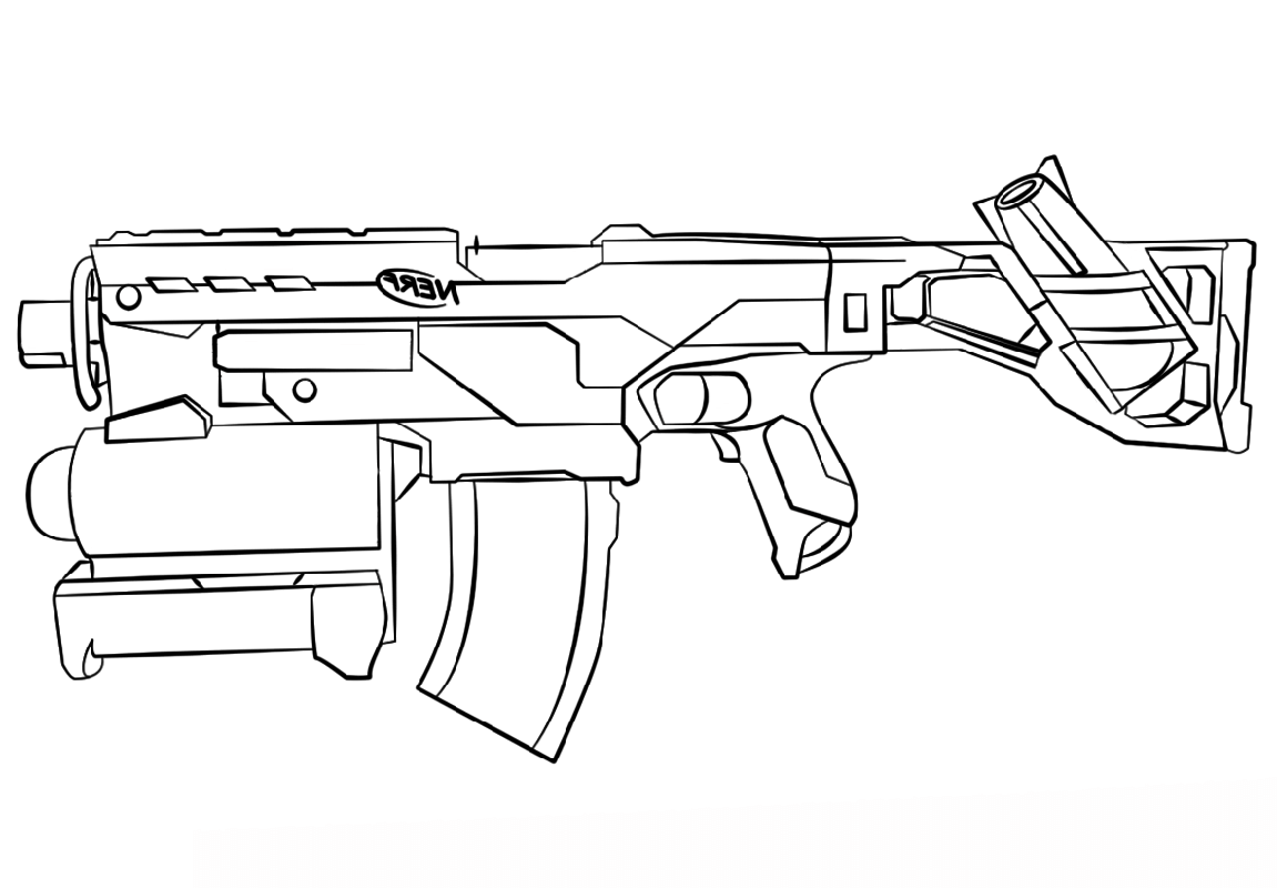 nerf gun coloring pages 1