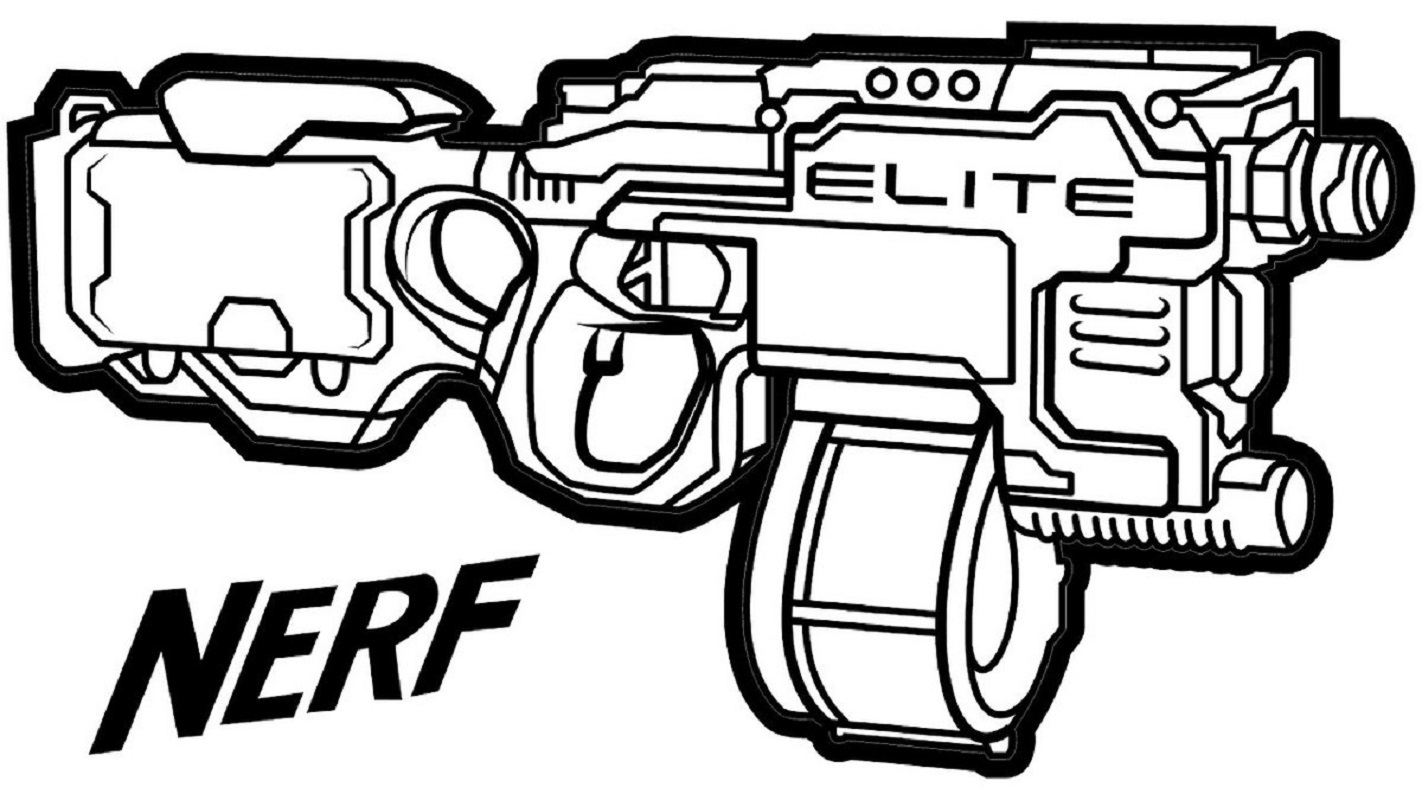nerf gun coloring pages 3