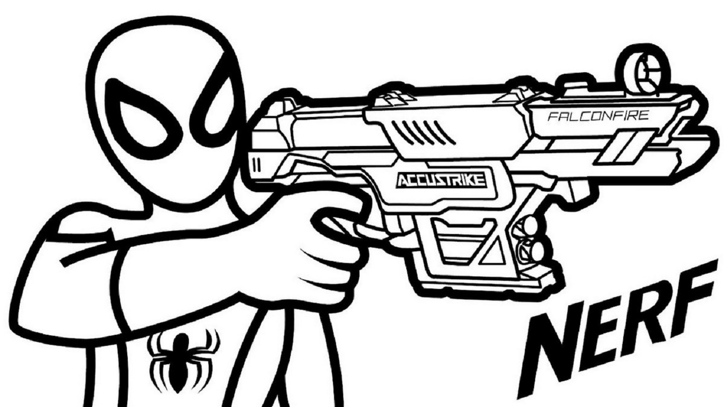 nerf gun coloring pages 4