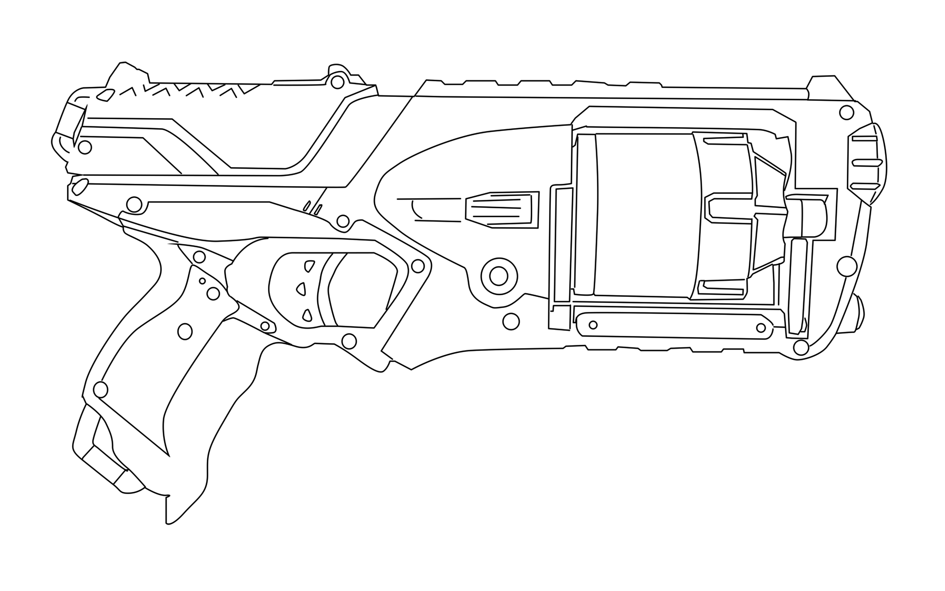 nerf gun coloring pages 5
