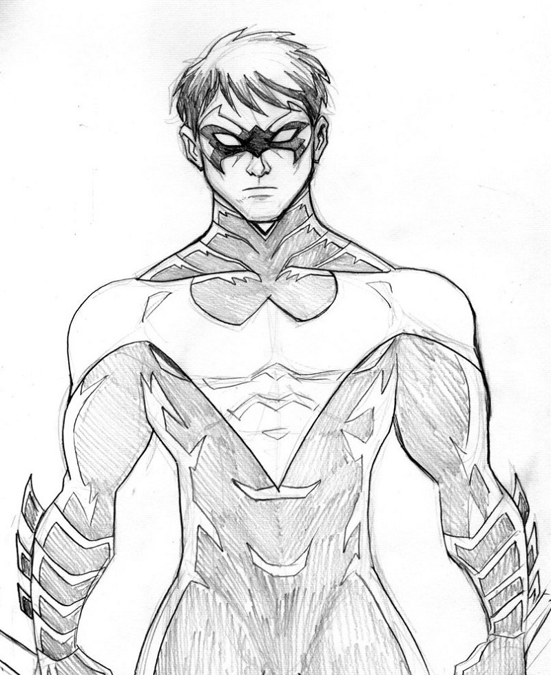 nightwing coloring pages 1
