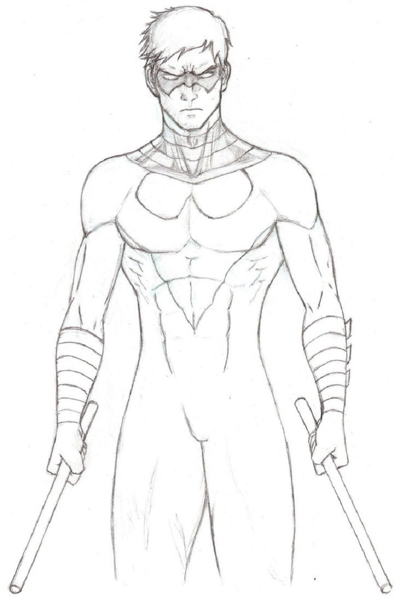 nightwing coloring pages 5