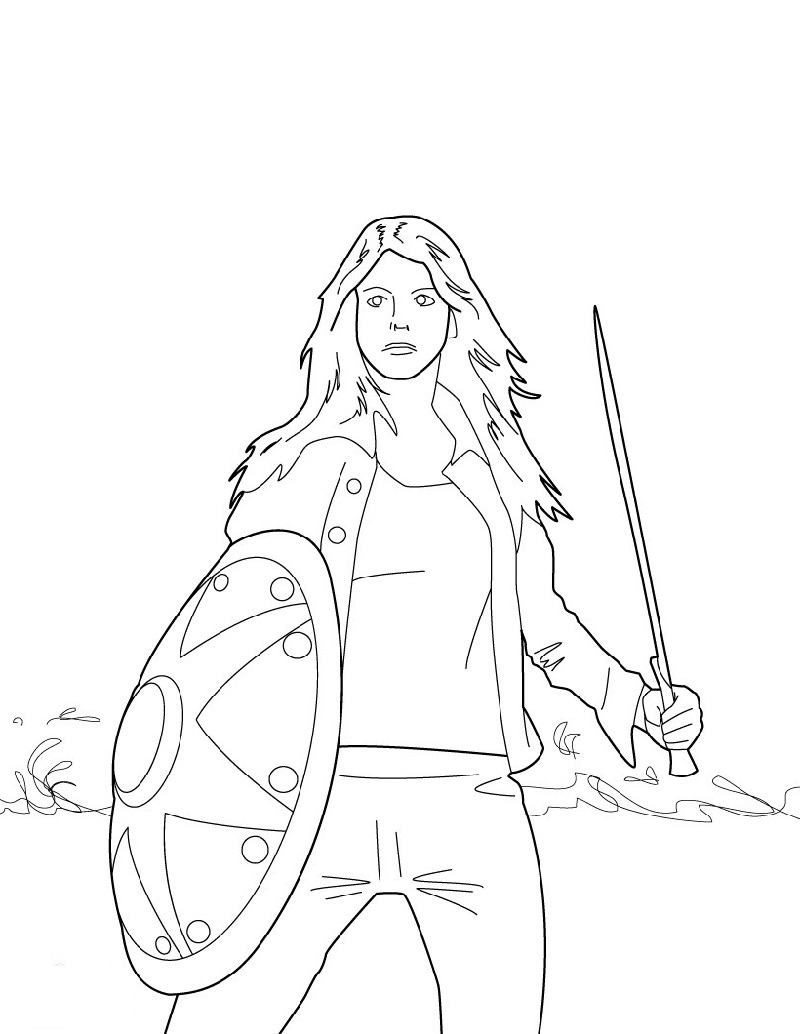percy jackson coloring pages 3