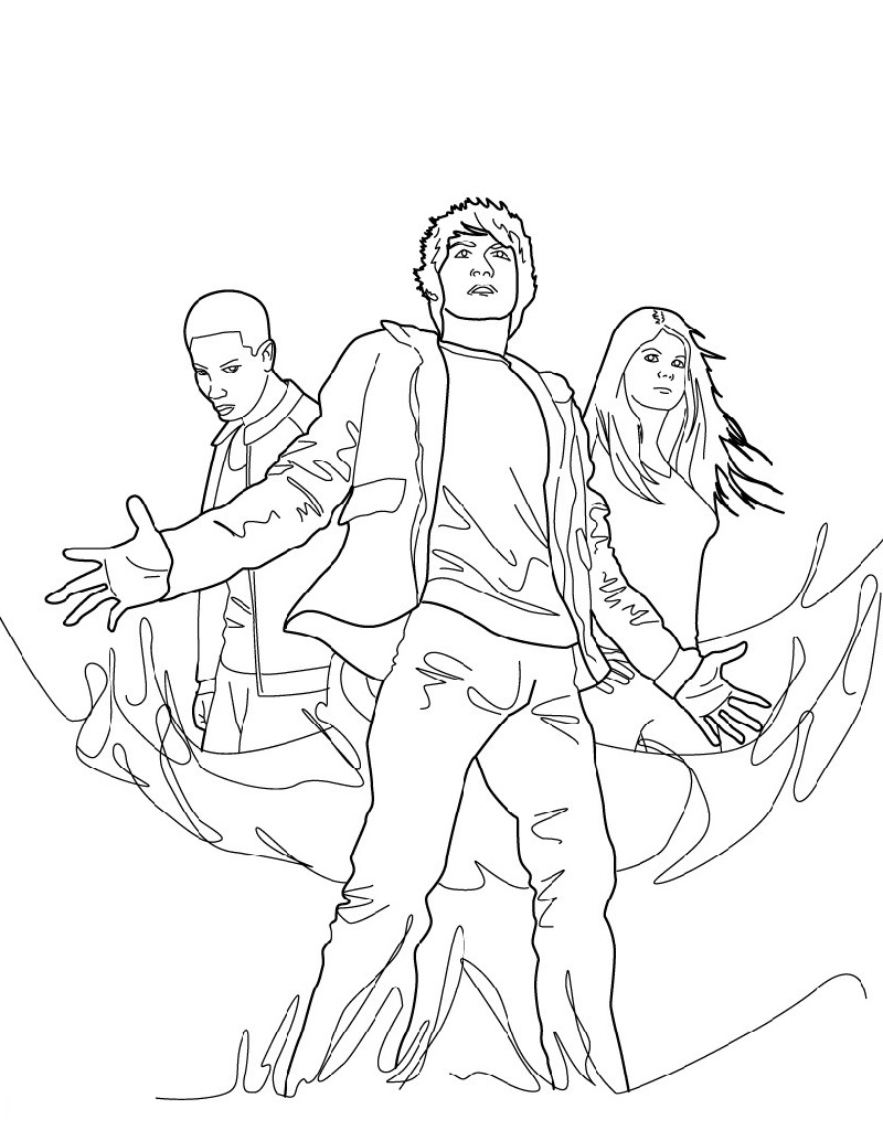 percy jackson coloring pages 4