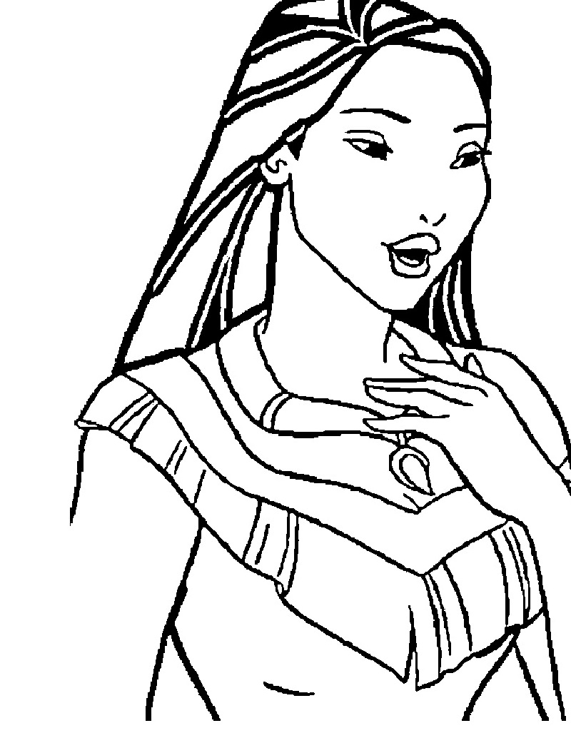 pocahontas coloring pages girl