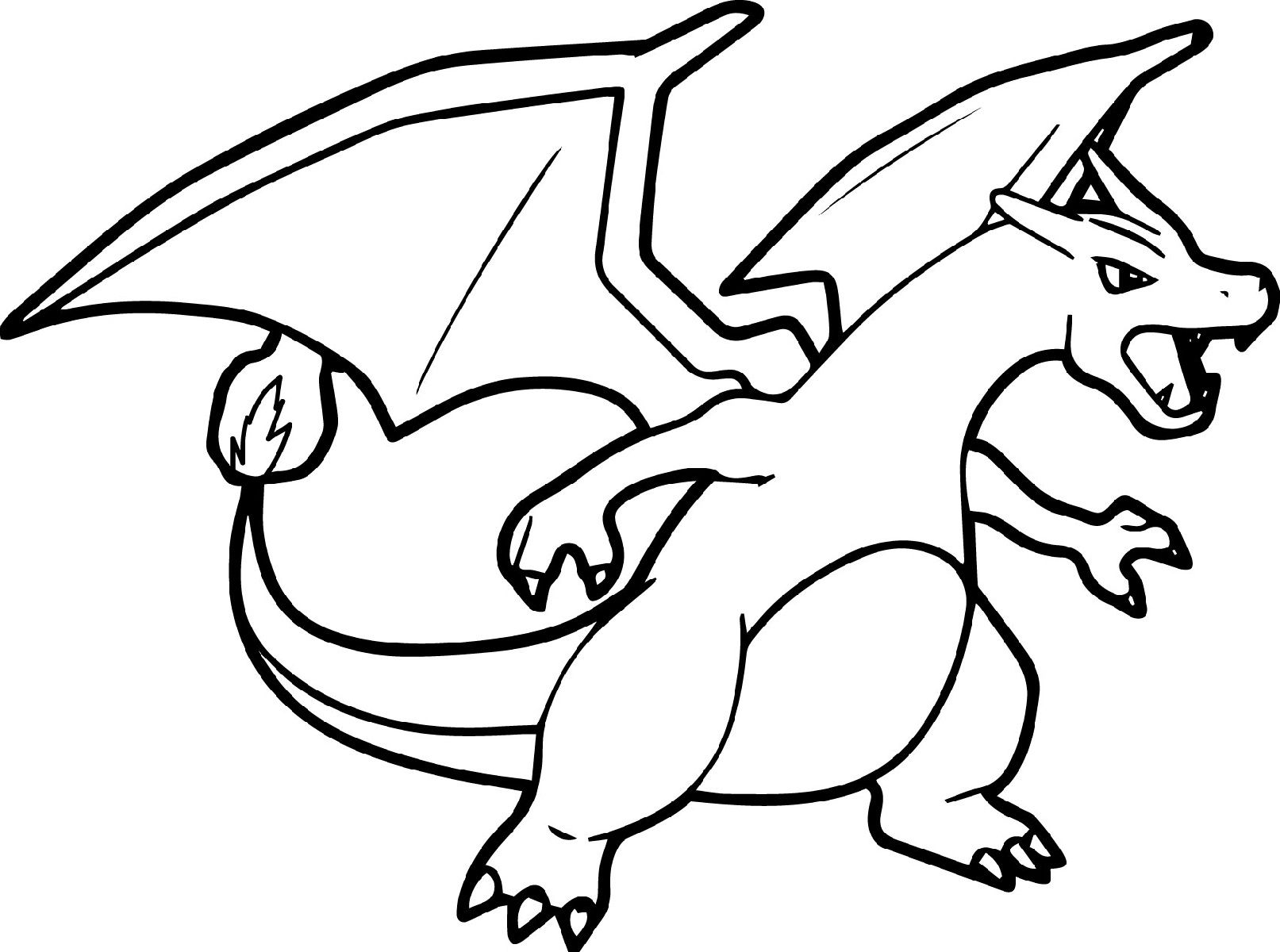 pokemon coloring pages charizard 3