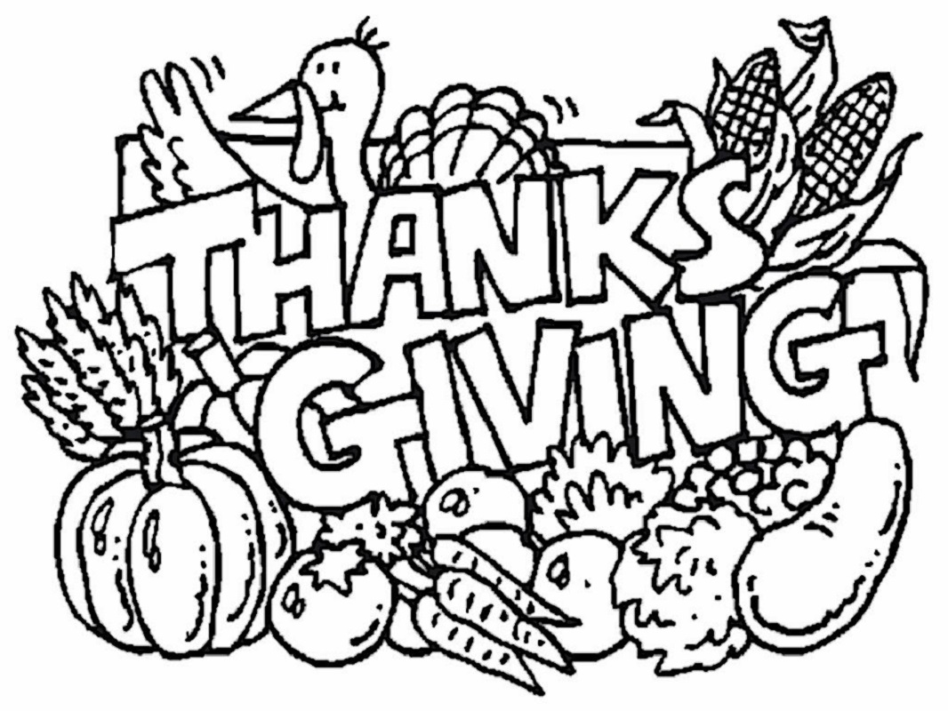 printable thanksgiving coloring pages 2