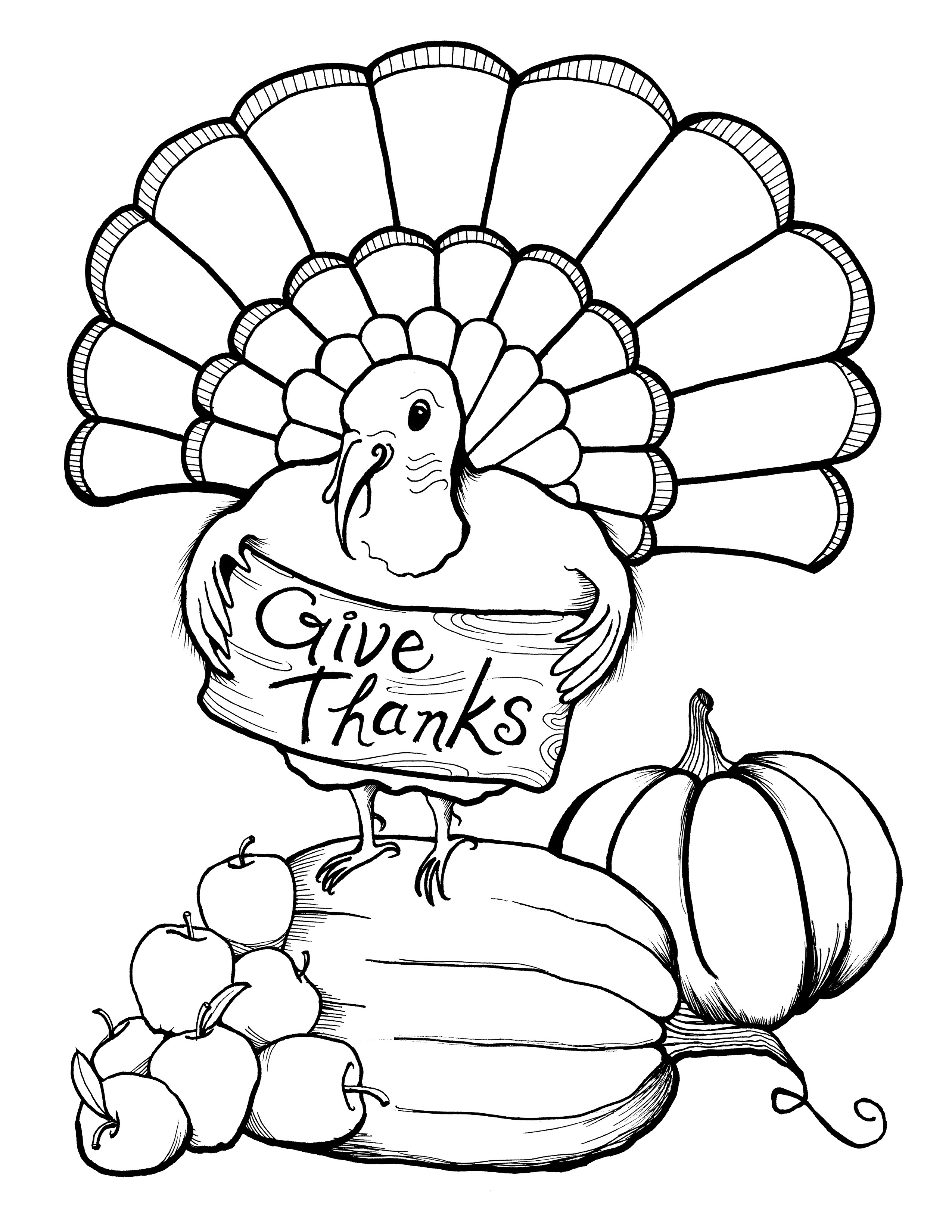 printable thanksgiving coloring pages 3