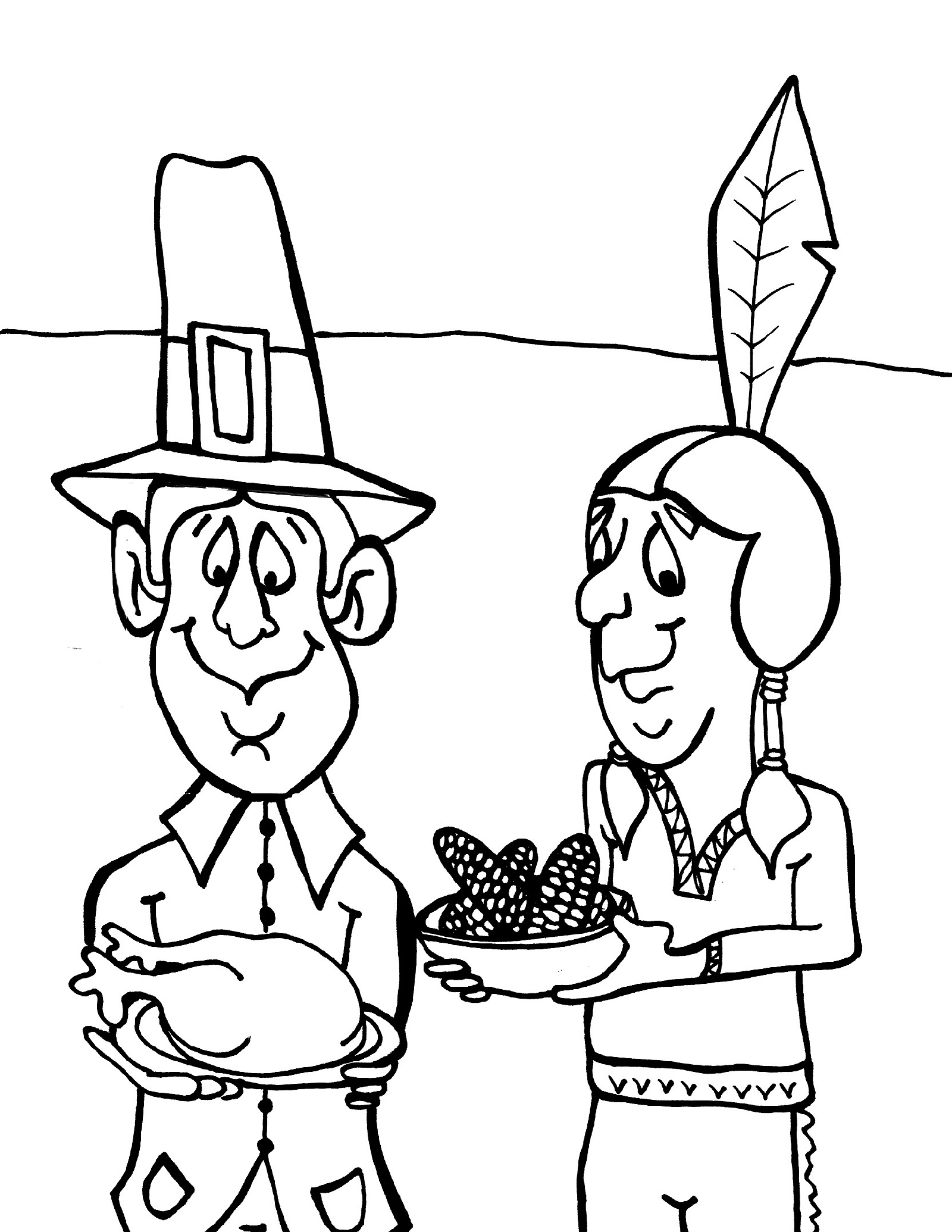 printable thanksgiving coloring pages 4