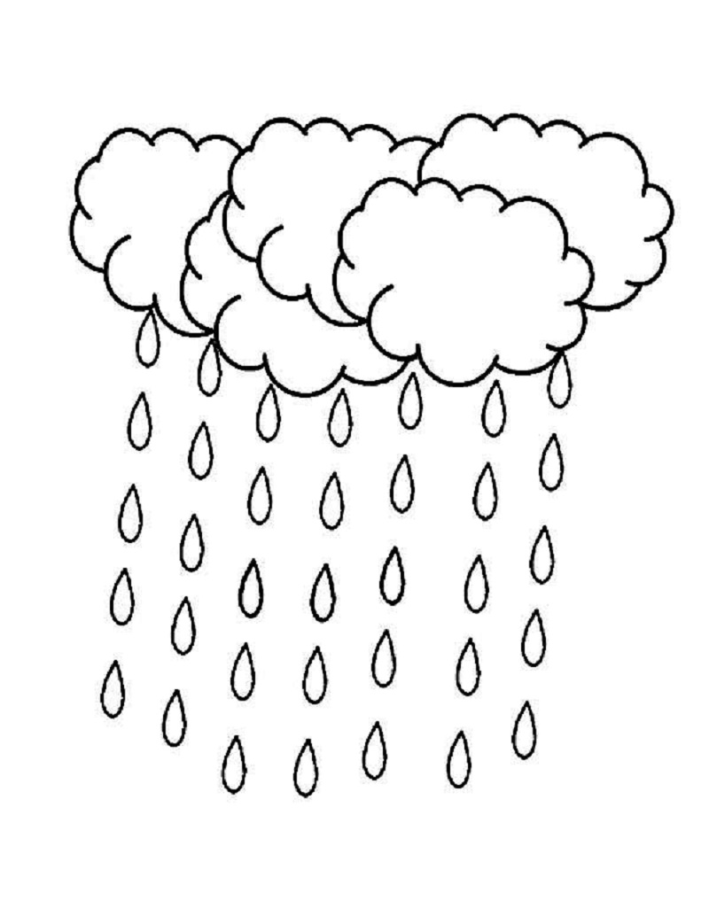 raindrop coloring page 4