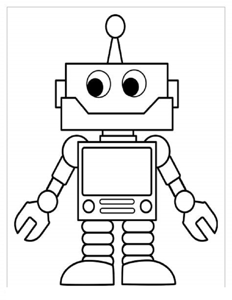 robot coloring pages 1